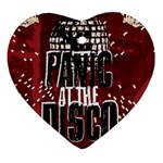Panic At The Disco Poster Heart Ornament (2 Sides) Front
