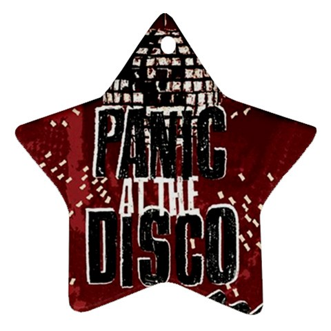 Panic At The Disco Poster Star Ornament (Two Sides)