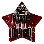Panic At The Disco Poster Star Ornament (Two Sides)  Back