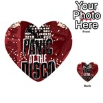 Panic At The Disco Poster Playing Cards 54 (Heart)  Back