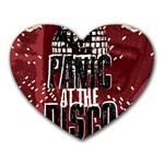 Panic At The Disco Poster Heart Mousepads Front