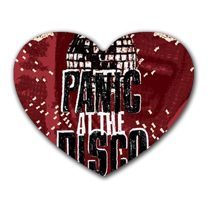 Panic At The Disco Poster Heart Mousepads