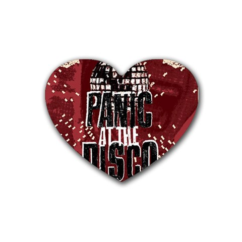 Panic At The Disco Poster Rubber Coaster (Heart)