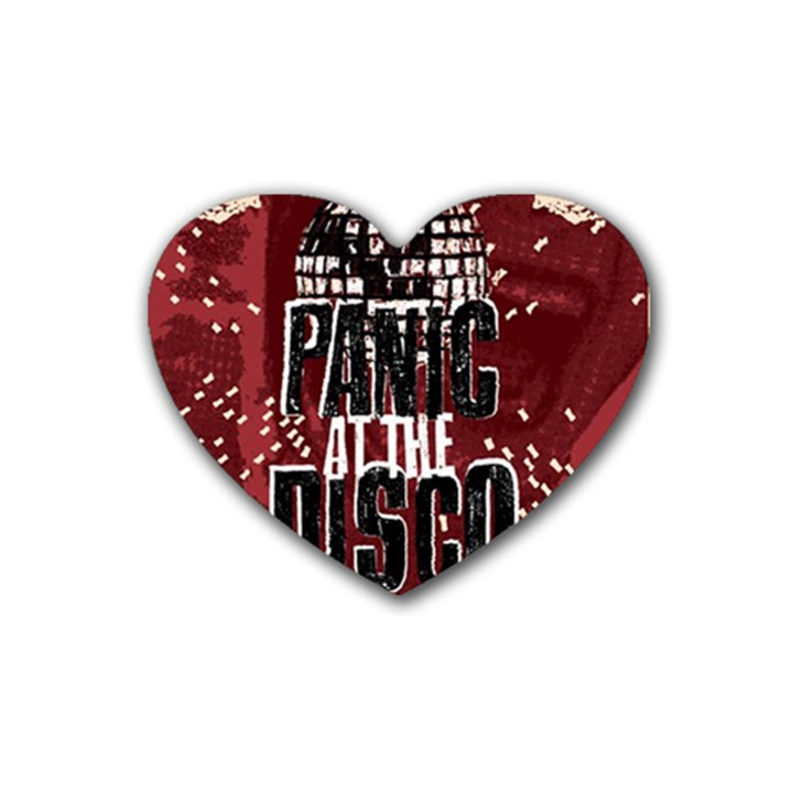 Panic At The Disco Poster Heart Coaster (4 pack)