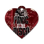Panic At The Disco Poster Dog Tag Heart (Two Sides) Back