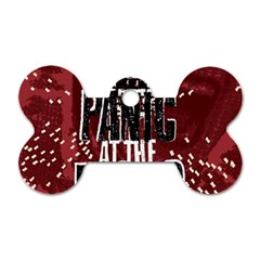 Panic At The Disco Poster Dog Tag Bone (one Side)