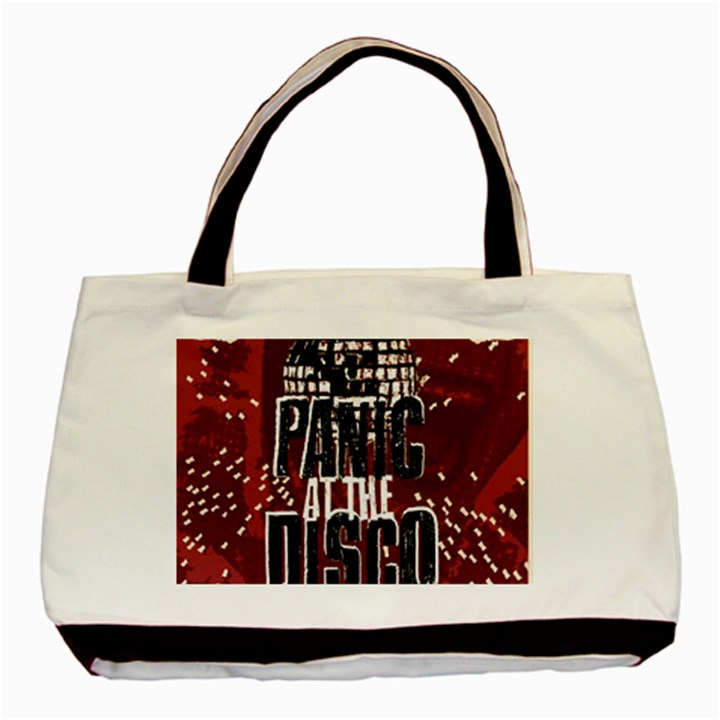 Panic At The Disco Poster Basic Tote Bag (Two Sides)