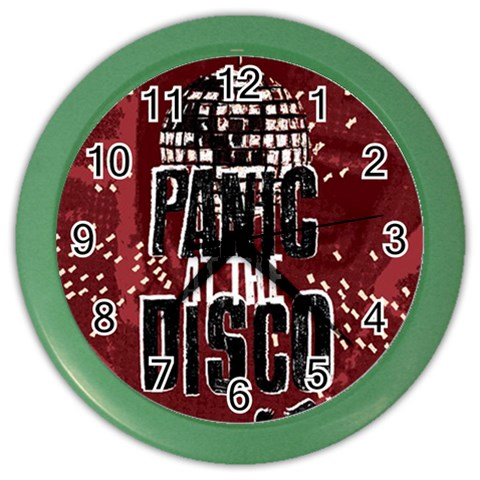 Panic At The Disco Poster Color Wall Clocks