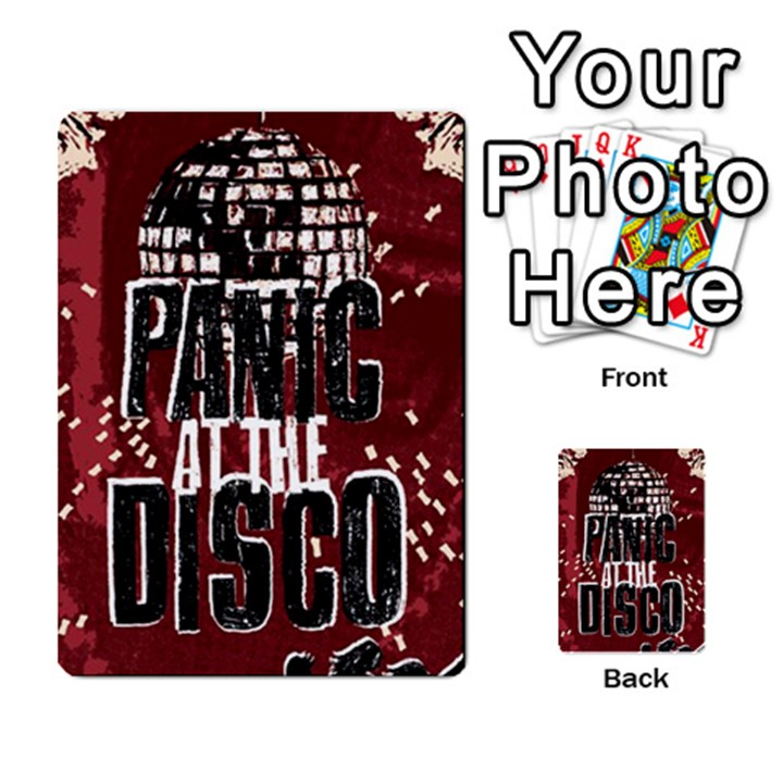 Panic At The Disco Poster Multi-purpose Cards (Rectangle)