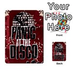 Panic At The Disco Poster Multi-purpose Cards (Rectangle)  Back 40