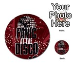 Panic At The Disco Poster Multi-purpose Cards (Round)  Back 51