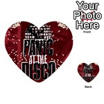 Panic At The Disco Poster Multi-purpose Cards (Heart)  Back 40