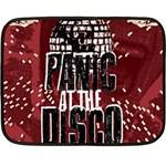 Panic At The Disco Poster Double Sided Fleece Blanket (Mini)  35 x27 Blanket Back