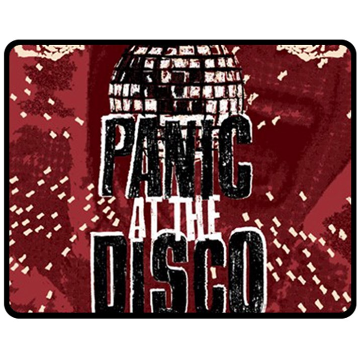 Panic At The Disco Poster Fleece Blanket (Medium)