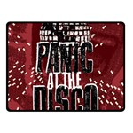 Panic At The Disco Poster Fleece Blanket (Small) 50 x40 Blanket Front
