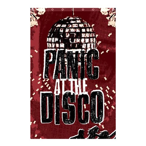 Panic At The Disco Poster Shower Curtain 48  x 72  (Small)