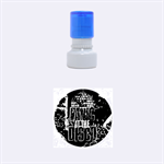 Panic At The Disco Poster Rubber Round Stamps (Small) 1.12 x1.12  Stamp