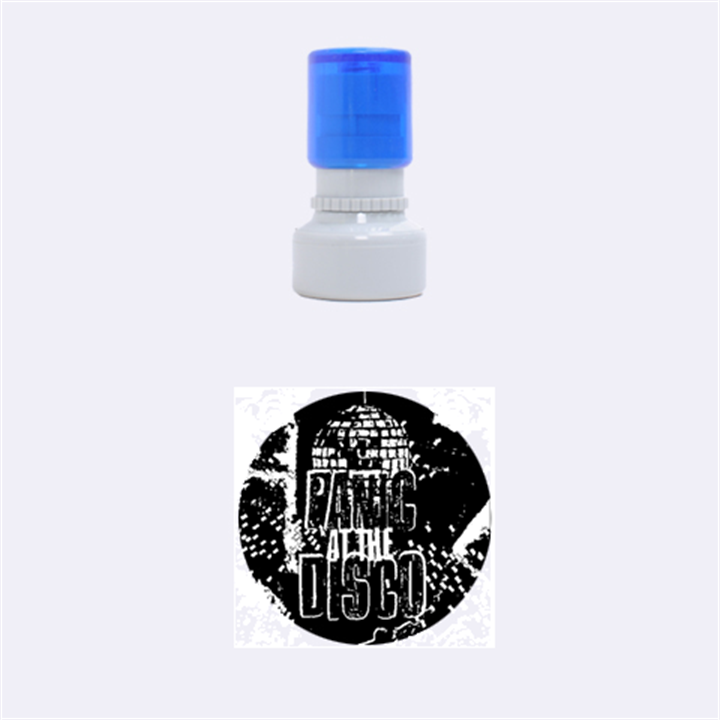 Panic At The Disco Poster Rubber Round Stamps (Small)