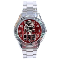 Panic At The Disco Poster Stainless Steel Analogue Watch