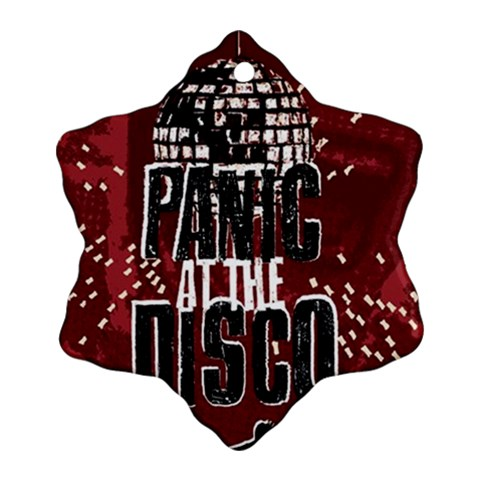 Panic At The Disco Poster Snowflake Ornament (2-Side)