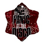 Panic At The Disco Poster Snowflake Ornament (2-Side) Back