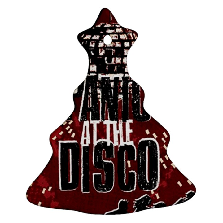 Panic At The Disco Poster Christmas Tree Ornament (2 Sides)