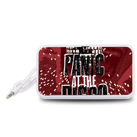 Panic At The Disco Poster Portable Speaker (White)