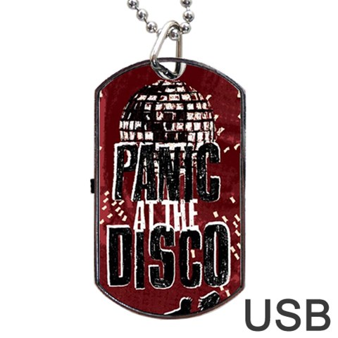 Panic At The Disco Poster Dog Tag USB Flash (One Side)