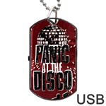 Panic At The Disco Poster Dog Tag USB Flash (Two Sides)  Front