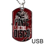 Panic At The Disco Poster Dog Tag USB Flash (Two Sides)  Back