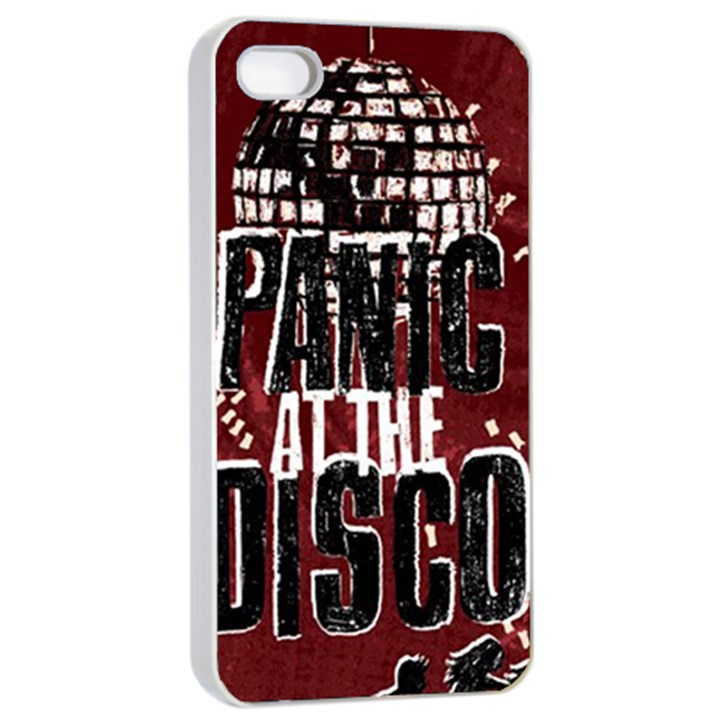 Panic At The Disco Poster Apple iPhone 4/4s Seamless Case (White)