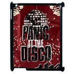 Panic At The Disco Poster Apple iPad 2 Case (Black) Front