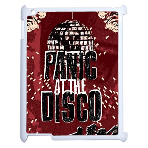 Panic At The Disco Poster Apple iPad 2 Case (White)
