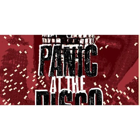 Panic At The Disco Poster YOU ARE INVITED 3D Greeting Card (8x4)
