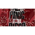 Panic At The Disco Poster Twin Heart Bottom 3D Greeting Card (8x4) Back