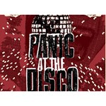 Panic At The Disco Poster Circle Bottom 3D Greeting Card (7x5) Back