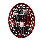 Panic At The Disco Poster Oval Filigree Ornament (2-Side)  Back