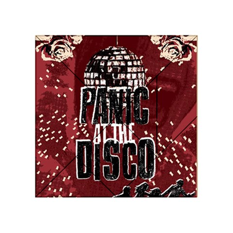 Panic At The Disco Poster Acrylic Tangram Puzzle (4  x 4 )