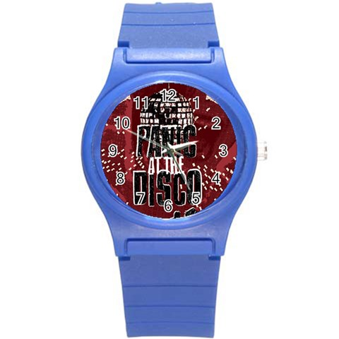 Panic At The Disco Poster Round Plastic Sport Watch (S)