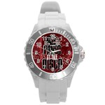 Panic At The Disco Poster Round Plastic Sport Watch (L) Front