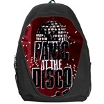 Panic At The Disco Poster Backpack Bag Front
