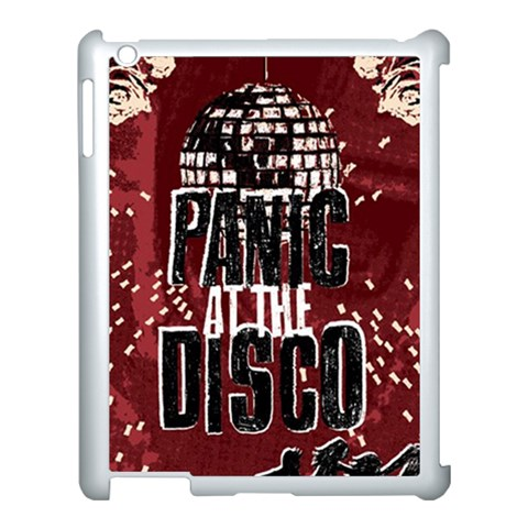 Panic At The Disco Poster Apple iPad 3/4 Case (White)