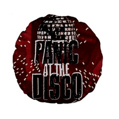 Panic At The Disco Poster Standard 15  Premium Round Cushions