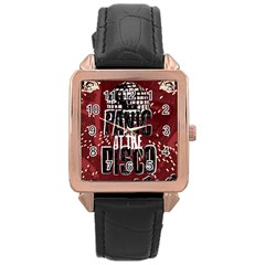 Panic At The Disco Poster Rose Gold Leather Watch