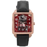 Panic At The Disco Poster Rose Gold Leather Watch  Front