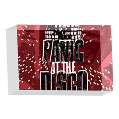 Panic At The Disco Poster 4 x 6  Acrylic Photo Blocks