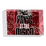 Panic At The Disco Poster 4 x 6  Acrylic Photo Blocks Front