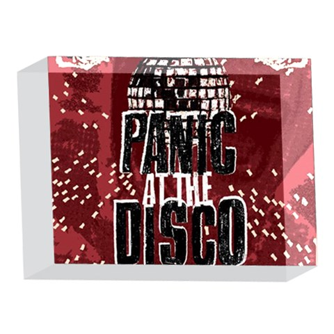 Panic At The Disco Poster 5 x 7  Acrylic Photo Blocks