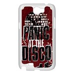 Panic At The Disco Poster Samsung Galaxy Note 2 Case (White) Front