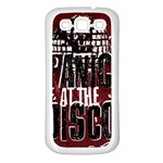 Panic At The Disco Poster Samsung Galaxy S3 Back Case (White) Front